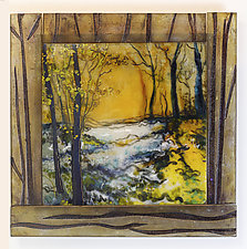 Twilight in the Trees by Alice Benvie Gebhart (Art Glass Wall Sculpture)