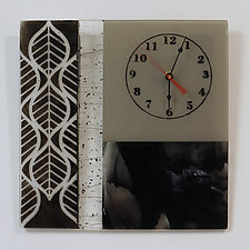 Neutral Timepiece by Alice Benvie Gebhart (Art Glass Clock)