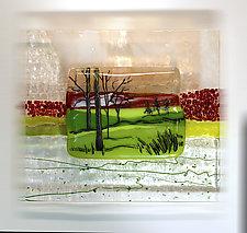Summer Glow by Alice Benvie Gebhart (Art Glass Wall Sculpture)