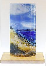 Cobalt Blue Sea by Alice Benvie Gebhart (Art Glass Sculpture)