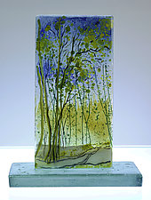 Clearing at Sunset by Alice Benvie Gebhart (Art Glass Sculpture)