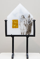 The Family Home by Alice Benvie Gebhart (Art Glass Sculpture)