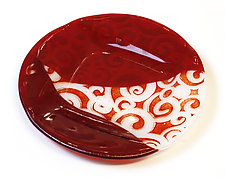 Swirls in Red by Alice Benvie Gebhart (Art Glass Platter)