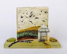Returning Home by Alice Benvie Gebhart (Art Glass Sculpture)