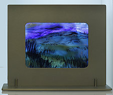 Blue Morning by Alice Benvie Gebhart (Art Glass Sculpture)