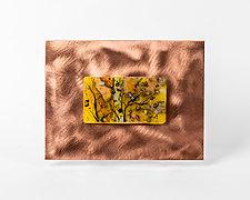 Miniature Birch by Alice Benvie Gebhart (Art Glass Wall Sculpture)