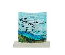 Migration by Alice Benvie Gebhart (Art Glass Sculpture)