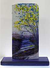 Purple Pathway by Alice Benvie Gebhart (Art Glass Sculpture)