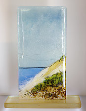 Over the Dunes II by Alice Benvie Gebhart (Art Glass Sculpture)