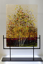 Golden Blossoms by Alice Benvie Gebhart (Art Glass Sculpture)