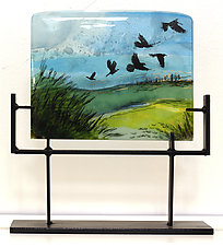 Fly Away Home by Alice Benvie Gebhart (Art Glass Sculpture)