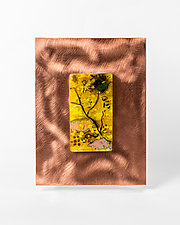 Tiny View Within by Alice Benvie Gebhart (Art Glass Wall Sculpture)