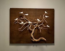 Birds in Trees by Chris  Stiles (Ceramic Wall Sculpture)
