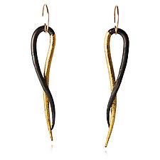 Old World Vines Earrings A by Valerie Ostenak (Gold & Bronze Earrings)