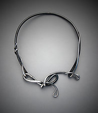 A Knotted Tie Vines & Tendrils Necklace by Valerie Ostenak (Steel Necklace)