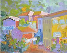 Dario's Villa by Dorothy Fagan (Oil Painting)