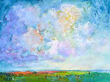 Poppies in the Field by Dorothy Fagan (Oil Painting)