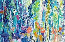 Downpour Butterflies by Dorothy Fagan (Oil Painting)
