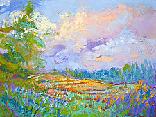 High on a Hill with a Cloud and a Prayer by Dorothy Fagan (Oil Painting)