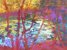 River Tapestry II by Dorothy Fagan (Pastel Painting)