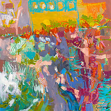 From My Garden Window by Dorothy Fagan (Oil Painting)