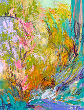 In My Garden by the Sea by Dorothy Fagan (Oil Painting)
