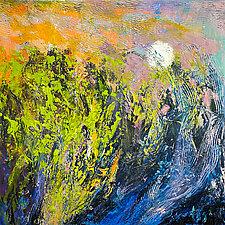 Marsh: Moonrise by Dorothy Fagan (Oil Painting)