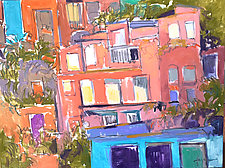 Village I by Dorothy Fagan (Mixed-Media Painting)