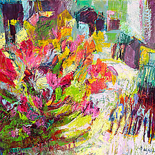 Dance Float Bloom Shine Be by Dorothy Fagan (Oil Painting)