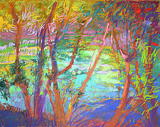 River Tapestry III by Dorothy Fagan (Pastel Painting)