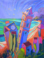 Falling Stars Wash Dreams Ashore by Dorothy Fagan (Oil Painting)