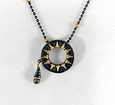 Delicate Circle Pendant by Sally Craig (Gold, Silver & Diamond Necklace)