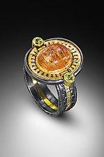 Precious Topaz and Peridot Ring by Sally Craig (Gold, Silver & Stone Ring)
