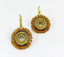 Spessartine Gold Earrings by Sally Craig (Gold & Stone Earrings)