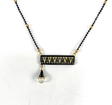 Delicate Bar Necklace by Sally Craig (Gold, Silver & Stone Necklace)