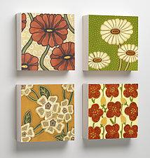 Lulu, Maisy, Elizabeth, Mari Wooden Tiles by Karen Deans (Giclee Print)