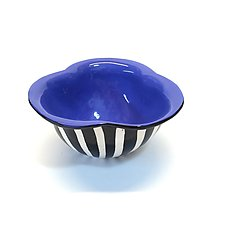 Blue Trefoil Bowl by Matthew A. Yanchuk (Ceramic Bowl)