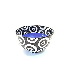 Small Round Bowl in Blue with Donut Pattern by Matthew A. Yanchuk (Ceramic Bowl)