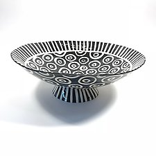Large Pedestal Bowl by Matthew A. Yanchuk (Ceramic Bowl)