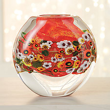 Fire Daisy by Shawn Messenger (Art Glass Vessel)