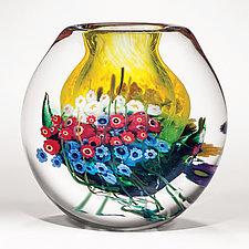 Landscape Series Vase Daffodil by Shawn Messenger (Art Glass Vase)