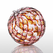 Raspberry Trifle by Paul Lockwood (Art Glass Ornament)