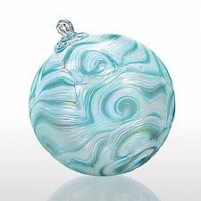 Ocean's Eddy by Paul Lockwood (Art Glass Ornament)