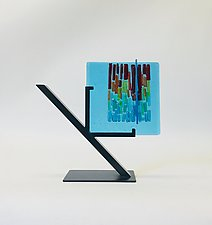 Rainbow Refuge I by Alicia Kelemen (Art Glass Sculpture)