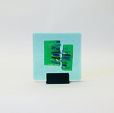 Aqua Marine Refuge I by Alicia Kelemen (Art Glass Sculpture)