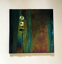 Forest Moon II by Alicia Kelemen (Art Glass Wall Sculpture)