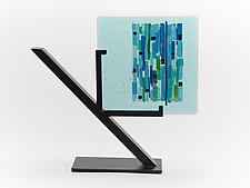 Magical Aqua Refuge I by Alicia Kelemen (Art Glass Sculpture)
