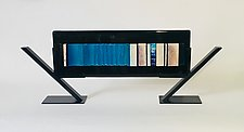 Blue Carpet I by Alicia Kelemen (Art Glass Sculpture)