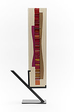Sunset Cranberry - Coral Waterfall III by Alicia Kelemen (Art Glass Sculpture)