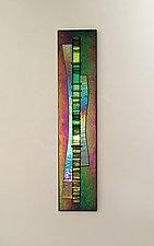Iridescent Waterfall I by Alicia Kelemen (Art Glass Wall Sculpture)